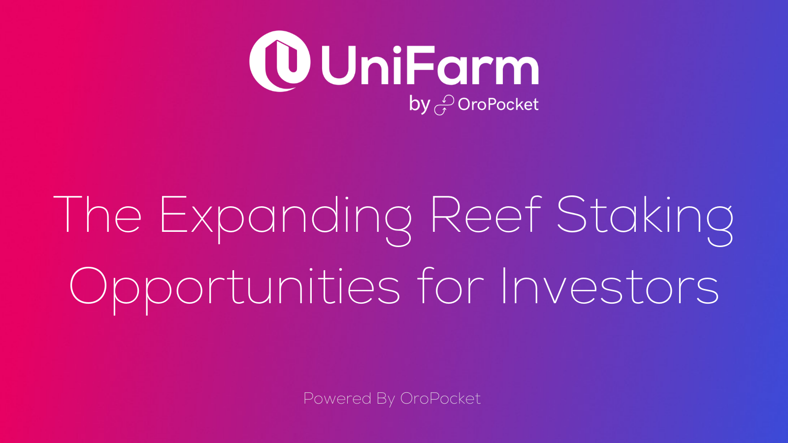 The Expanding Reef Staking Opportunities for Investors