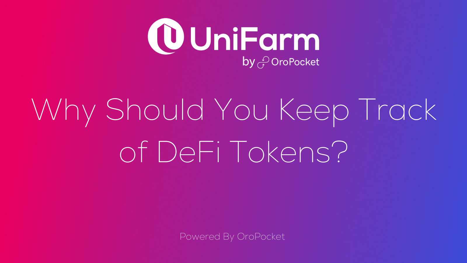 Why Should You Keep Track of DeFi Tokens?