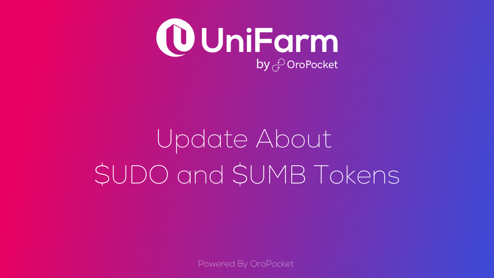 Update About $UDO and $UMB Tokens