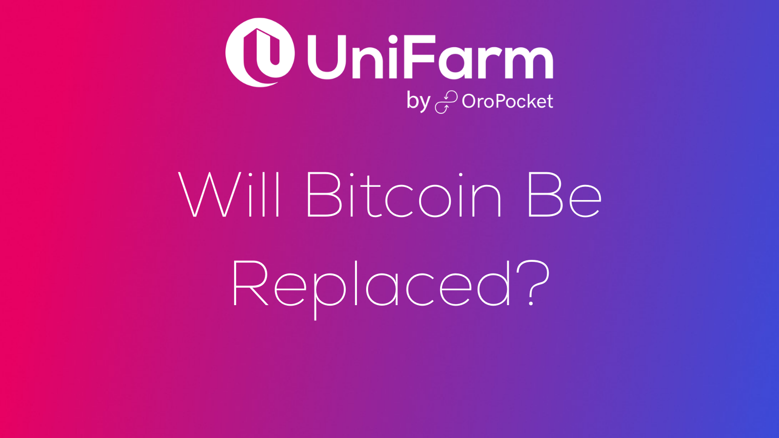 will bitcoin be replaced