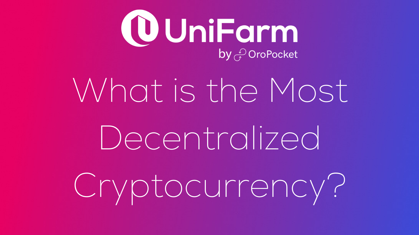 decentralized cryptocurrency